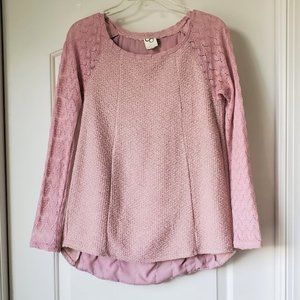 One September Pink Rosanella Top XS